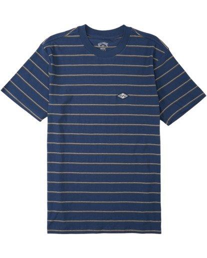 3 Die Cut Stripe Short Sleeve Crew T-Shirt Blue M9041BDI Billabong