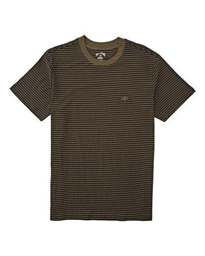 3 Die Cut Stripe Short Sleeve Crew T-Shirt Green M9041BDI Billabong