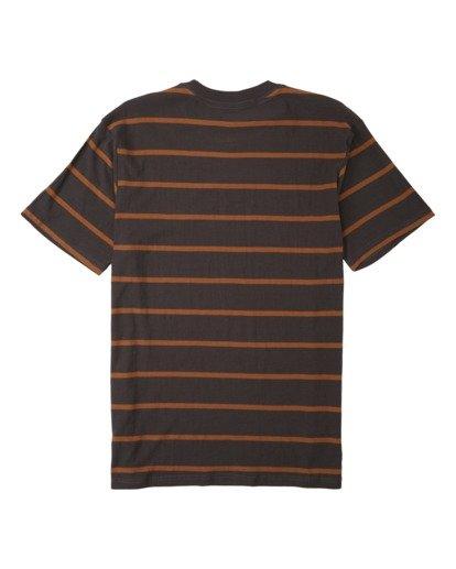 4 Die Cut Stripe Short Sleeve Crew T-Shirt Black M9041BDI Billabong