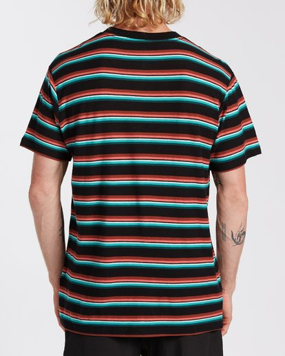 2 Die Cut Stripe Short Sleeve Crew T-Shirt Black M9041BDI Billabong