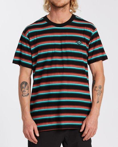 0 Die Cut Stripe Short Sleeve Crew T-Shirt Black M9041BDI Billabong