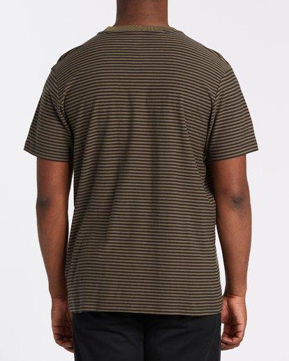 2 Die Cut Stripe Short Sleeve Crew T-Shirt Green M9041BDI Billabong