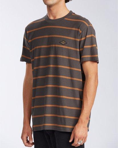 1 Die Cut Stripe Short Sleeve Crew T-Shirt Black M9041BDI Billabong