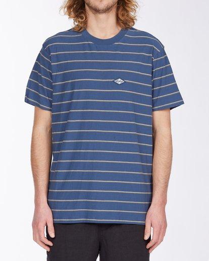 0 Die Cut Stripe Short Sleeve Crew T-Shirt Blue M9041BDI Billabong