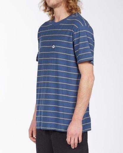 1 Die Cut Stripe Short Sleeve Crew T-Shirt Blue M9041BDI Billabong