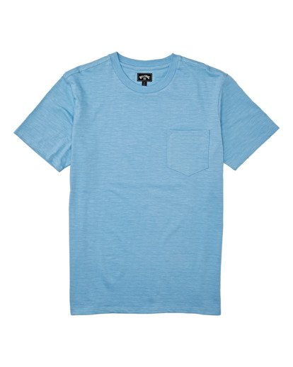 3 Mesa Slub Crew T-Shirt Blue M9041BMS Billabong