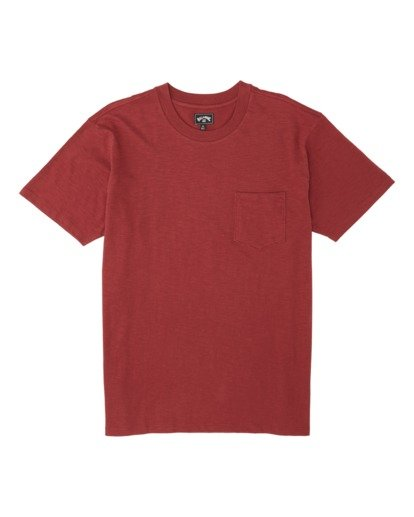 3 Mesa Slub Crew T-Shirt Brown M9041BMS Billabong