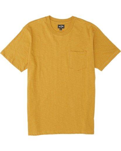 3 Mesa Slub Crew T-Shirt Yellow M9041BMS Billabong