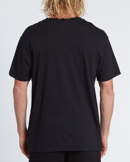 2 Mesa Slub Crew T-Shirt Black M9041BMS Billabong