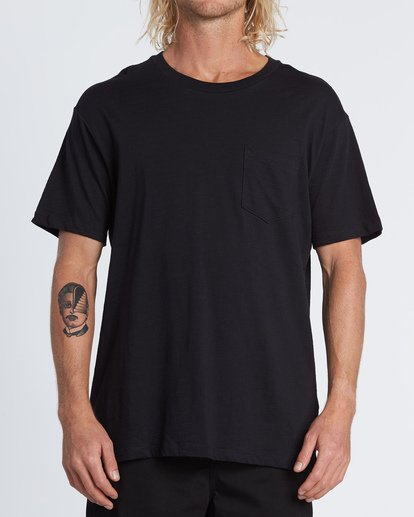 0 Mesa Slub Crew T-Shirt Black M9041BMS Billabong