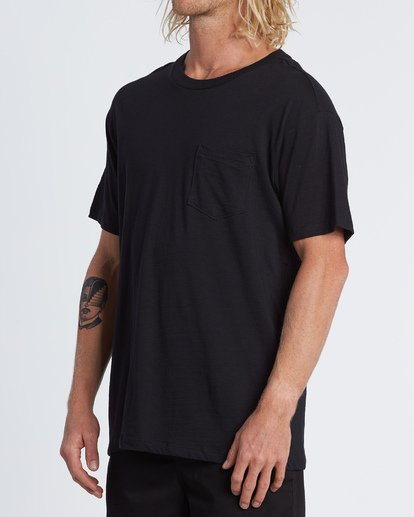1 Mesa Slub Crew T-Shirt Black M9041BMS Billabong