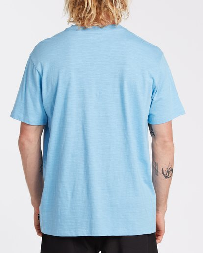 2 Mesa Slub Crew T-Shirt Blue M9041BMS Billabong