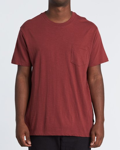 0 Mesa Slub Crew T-Shirt Brown M9041BMS Billabong
