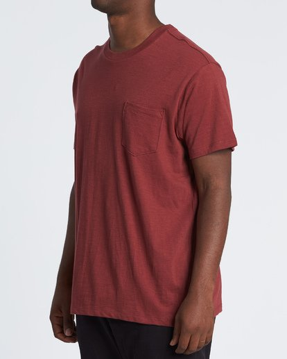 1 Mesa Slub Crew T-Shirt Brown M9041BMS Billabong