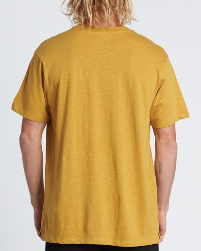 2 Mesa Slub Crew T-Shirt Yellow M9041BMS Billabong