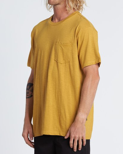 1 Mesa Slub Crew T-Shirt Yellow M9041BMS Billabong