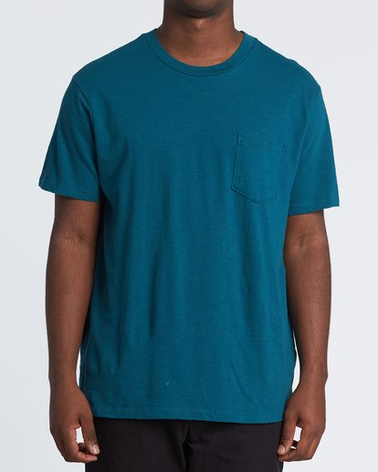 0 Mesa Slub Crew T-Shirt Blue M9041BMS Billabong