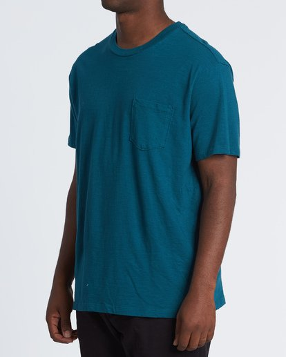 1 Mesa Slub Crew T-Shirt Blue M9041BMS Billabong