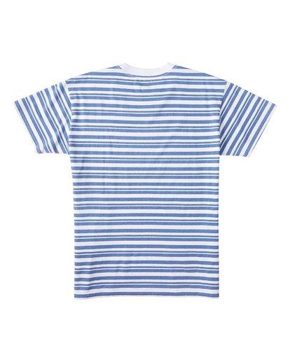 4 Simmo Stripe Short Sleeve T-Shirt White M9041BSE Billabong