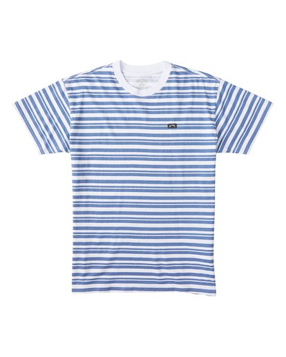 3 Simmo Stripe Short Sleeve T-Shirt White M9041BSE Billabong
