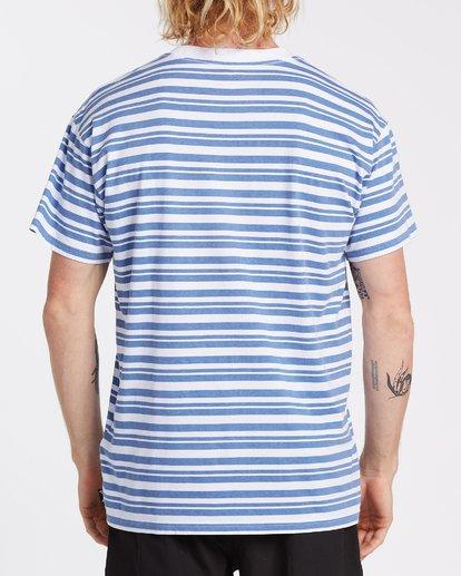 2 Simmo Stripe Short Sleeve T-Shirt White M9041BSE Billabong