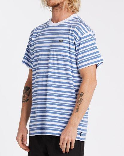 1 Simmo Stripe Short Sleeve T-Shirt White M9041BSE Billabong