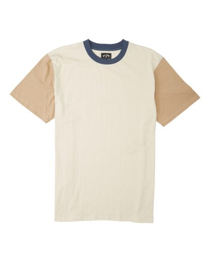 6 Zenith Short Sleeve T-Shirt Beige M9043BZE Billabong