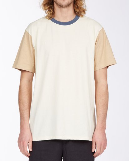 3 Zenith Short Sleeve T-Shirt Beige M9043BZE Billabong