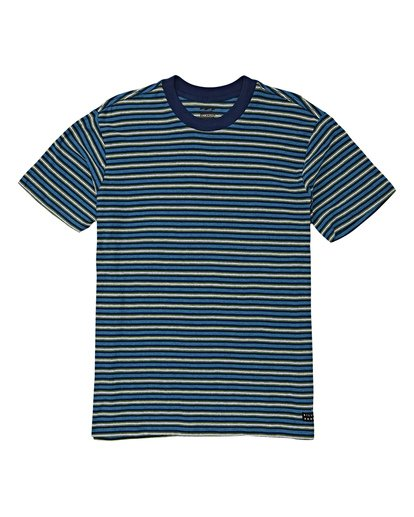 4 Die Cut Stp Short Sleeve Crew Shirt Blue M905VBDI Billabong