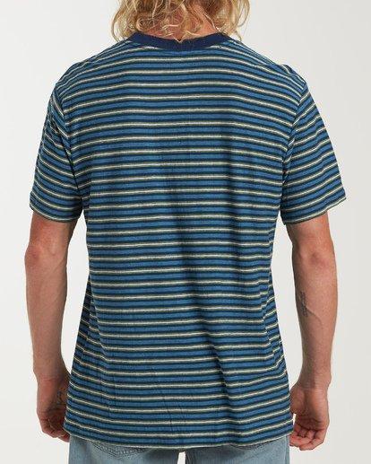 2 Die Cut Stp Short Sleeve Crew Shirt Blue M905VBDI Billabong