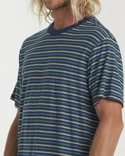 3 Die Cut Stp Short Sleeve Crew Shirt Blue M905VBDI Billabong