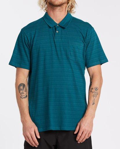 0 Standard Issue Polo Shirt Blue M9181BST Billabong