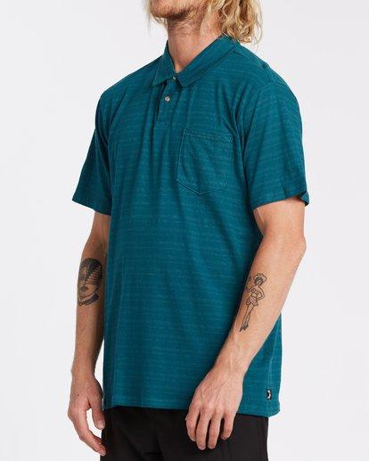 1 Standard Issue Polo Shirt Blue M9181BST Billabong