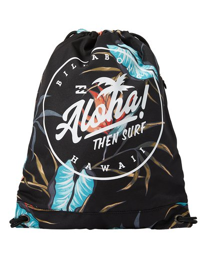 0 Aloha Cinch Bag Backpack Black MABKTBAR Billabong