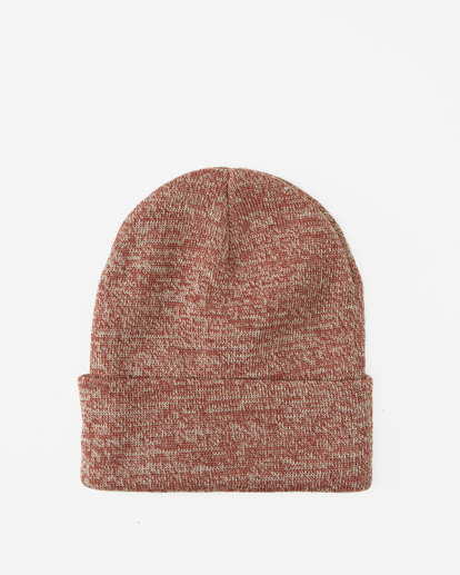 1 Stacked Heather Beanie Red MABN3BSH Billabong