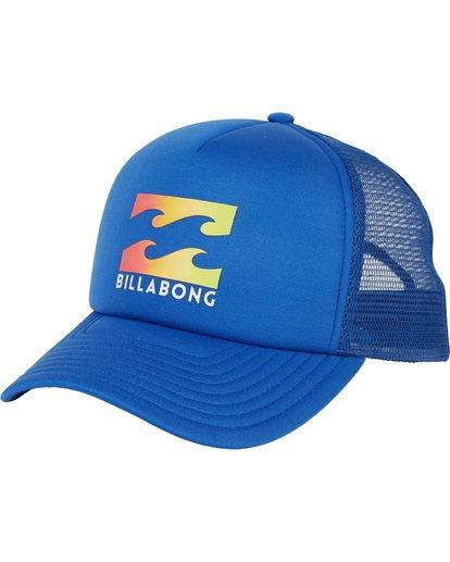 0 Podium Trucker Hat Blue MAHTGPOD Billabong