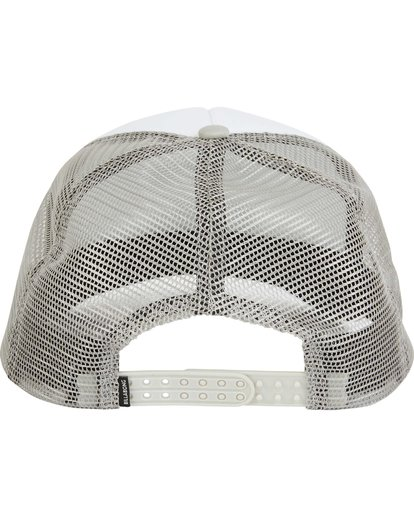 3 Podium Trucker Hat Grey MAHTGPOD Billabong