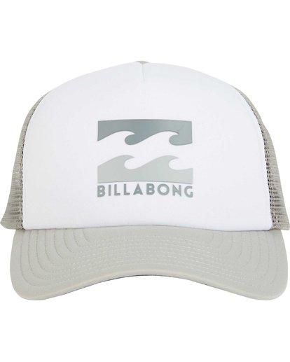 1 Podium Trucker Hat Grey MAHTGPOD Billabong