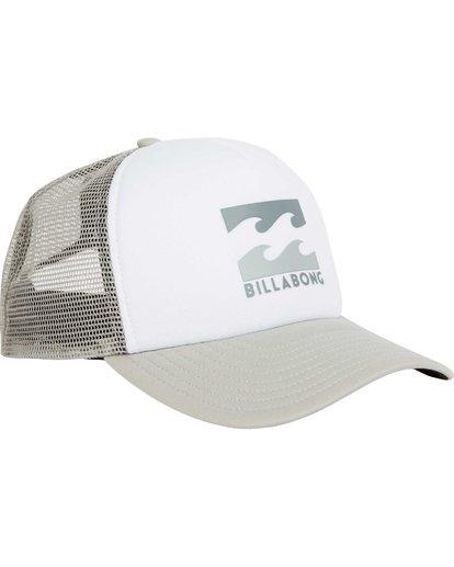2 Podium Trucker Hat Grey MAHTGPOD Billabong