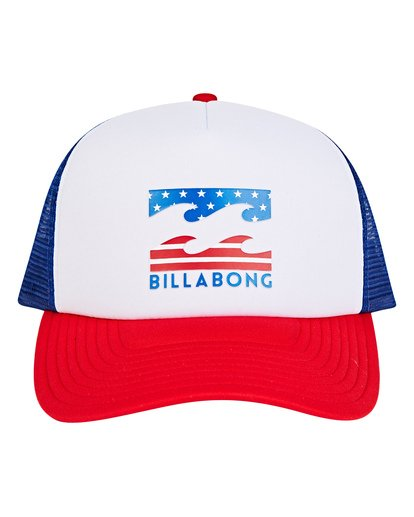 1 Podium Trucker Hat Red MAHTGPOD Billabong