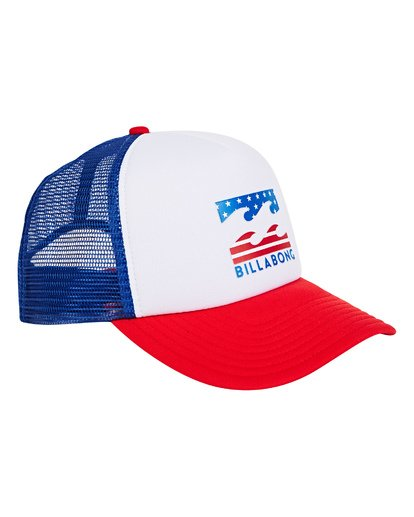 2 Podium Trucker Hat Red MAHTGPOD Billabong