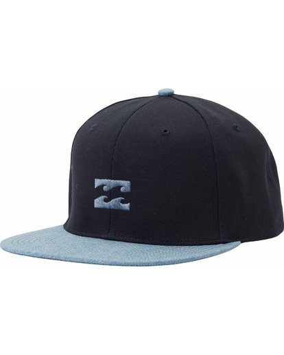 0 All Day Snapback Hat Blue MAHTLADS Billabong