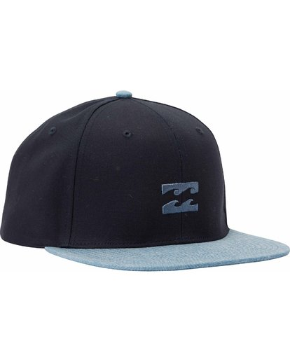 2 All Day Snapback Hat Blue MAHTLADS Billabong