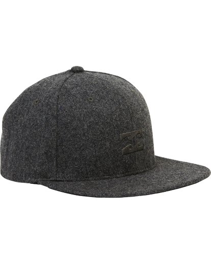 2 All Day Heather Snapback Hat Grey MAHTLAHS Billabong