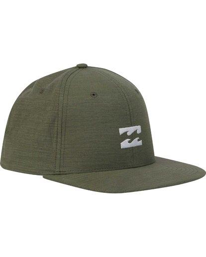 2 All Day Heather Snapback Hat Green MAHTLAHS Billabong