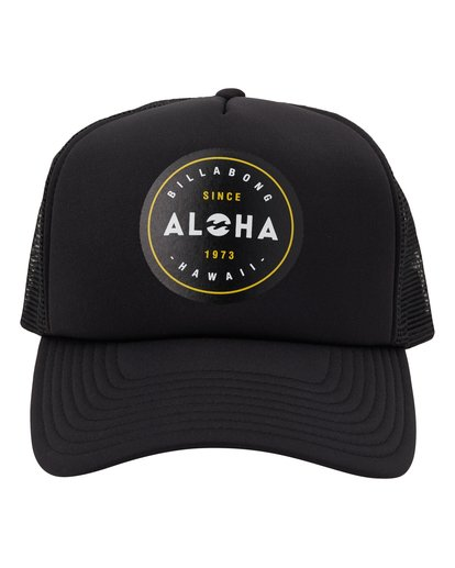 1 Aloha Trucker Hat Black MAHW1BAR Billabong