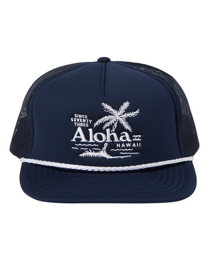 1 Destination Trucker Hat Blue MAHW1BDR Billabong