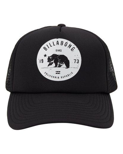 1 Grizzly California Trucker Hat Black MAHW1BGR Billabong
