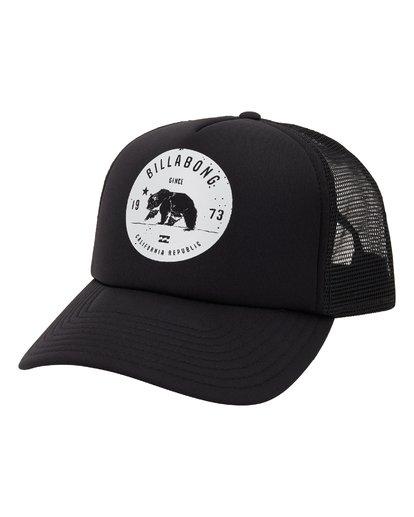0 Grizzly California Trucker Hat Black MAHW1BGR Billabong