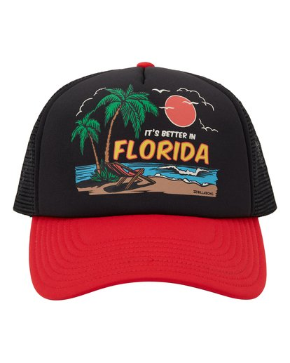 1 Vacay Trucker Hat Red MAHW1BLR Billabong